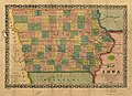 Map of Iowa exhibiting the townships, cities, villages post offices, railroads, common roads & other improvements. LOC 98688478.jpg