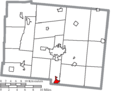 Map of Logan County Ohio Highlighting West Liberty Village.png