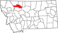 Map of Montana highlighting Pondera County.svg