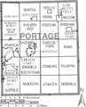 Map of Portage County Ohio With Municipal and Township Labels.PNG