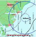 Map of Sealand with territorial waters-zh-classical.png