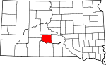 State map highlighting Jones County