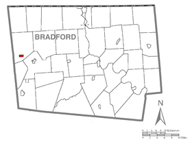 Map of Sylvania, Bradford County, Pennsylvania Highlighted.png
