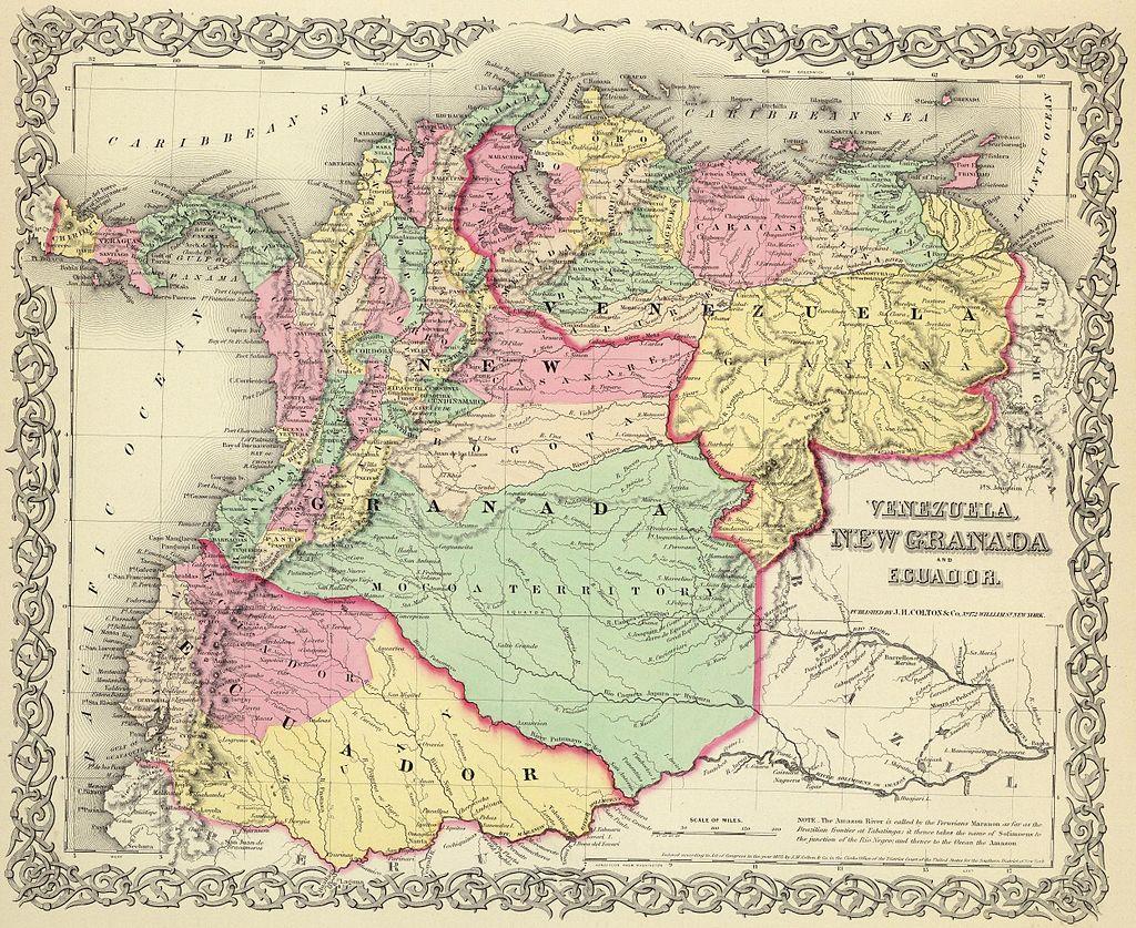 Map of Venezuela, New Granada and Ecuador (1855).jpg