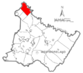 Map of Westmoreland County, Pennsylvania Highlighting Allegheny Township.PNG