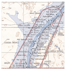 Map of the flooding areas of the Lake Nasser in the Wadi Halfa Salient.png