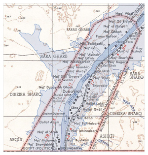 Wadi Halfa Salient - Flooding area superimposed