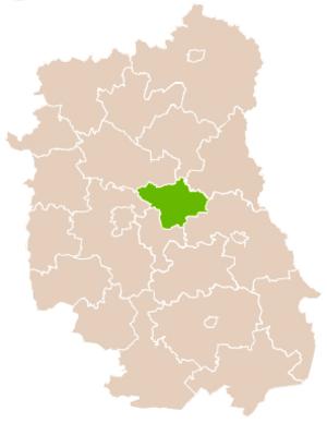 Łęczna County - Image: Mapa Pow Łęczyński