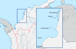 Fuerte Island - Location map of Fuerte Island