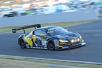 2015 Liqui Moly Bathurst 12 Hour - The Class AP-winning Audi R8 LMS Ultra of Marco Mapelli, Laurens Vanthoor and Markus Winkelhock.