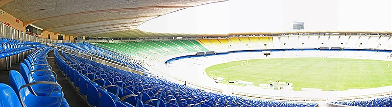 Panorama do interior do estádio.