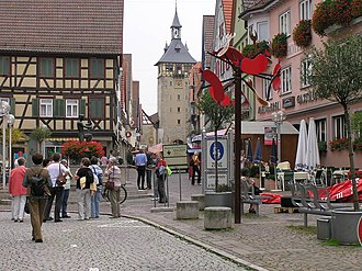Marbach am Neckar - Old town of Marbach