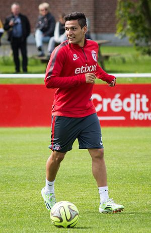 Rony Lopes - Lopes in training with Lille in 2015