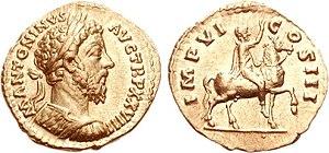 Aureus de Marcus Aurelius