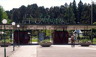 Ingången till Mariebergsskogen