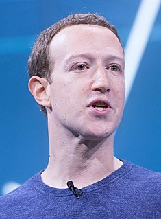 American internet entrepreneur and founder of Facebook
