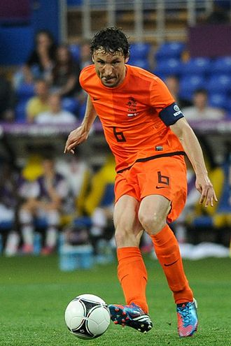 Mark van Bommel - Van Bommel playing for the Netherlands in 2012