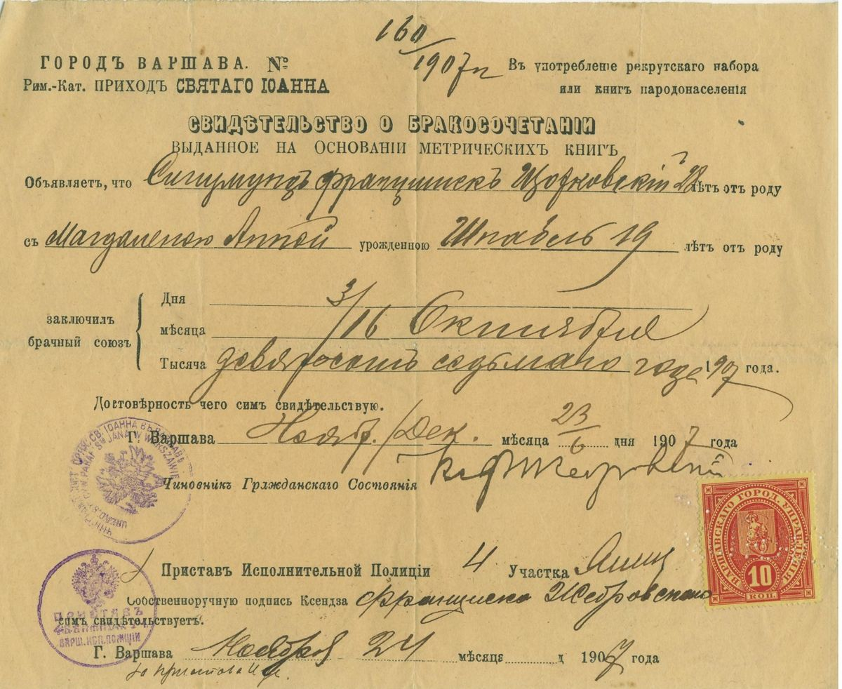 Marriage certificate wikipedia alramifo Image collections