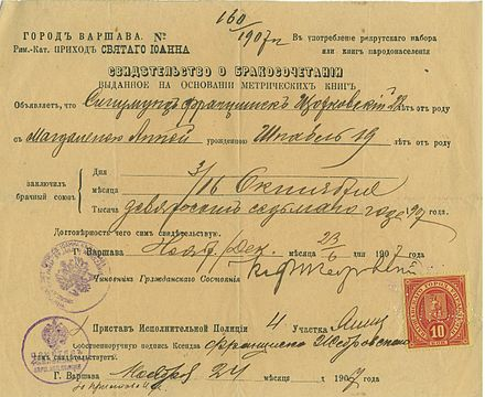 Marriage certificate - Wikiwand