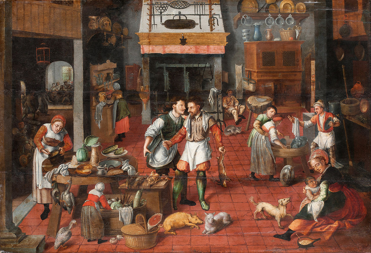 https://upload.wikimedia.org/wikipedia/commons/thumb/1/14/Marten_van_Cleve%2C_attributed_to%2C_his_studio%3F_-_Kitchen_interior_-_Google_Art_Project.jpg/1280px-Marten_van_Cleve%2C_attributed_to%2C_his_studio%3F_-_Kitchen_interior_-_Google_Art_Project.jpg