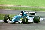 Martin Brundle - Ligier JS39 during practice for the1993 British Grand Prix (33557361031).jpg