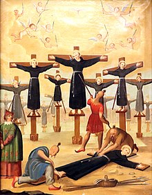 Martyrs of Nagasaki - a painting from Prague.jpg