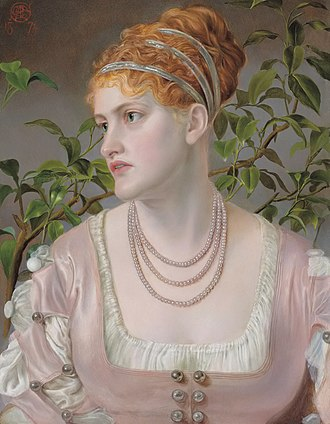 Frederick Sandys - Mary Emma Jones (Emma Sandys, 1874)