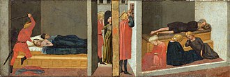 Pisa Altarpiece - Scenes from the legends of St Julian and St Nicholas