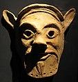 Maschera di satiro, V-IV sec ac, forse da cabras-tharros (MAN cagliari).JPG