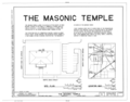 Masonic Temple, Lodge F. and A. M. No. 41, 215 North Main Street, Gainesville, Alachua County, FL HABS FLA,1-GAINV,5- (sheet 1 of 16).png
