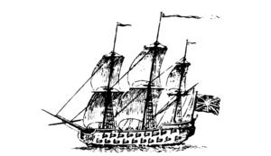 Edward Tyng - Image: Massachusetts Frigate, c.1745