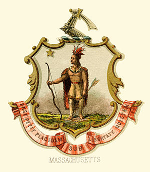 Seal of Massachusetts - Historical coat of arms (1876)