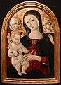 Matteo di giovanni (bottega), madonna col bambino e angeli, 01.jpg