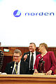 Matti Vanhanen, statsminister Finland, Lars Loekke Rasmussen, statsminister Danmark, och Maud Olofsson, vice statsminister Sverige. Nordiska radets session i Stockholm 2009.jpg