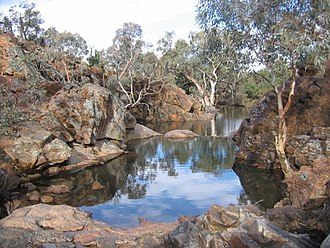 Ephemerality - The ephemeral nature of Granite Plateau Creek on the Mawson Plateau, means the creek is usually a series of waterholes.