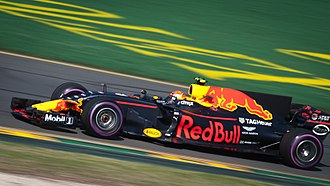 Red Bull - Max Verstappen in the Red Bull RB13, the 2017 Formula One car of the Red Bull Racing Team