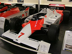 John Barnard - McLaren MP4/1 was the first Formula One car to use the now ubiquitous carbon fibre composite monocoque