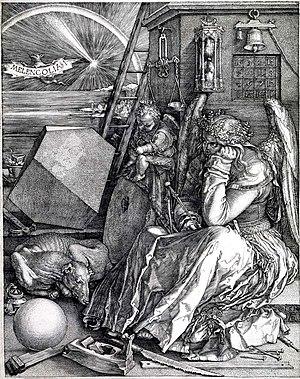 Melencolia I. Print of Albrecht Dürer