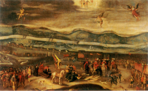 Smolensk War - Surrender of Mikhail Shein at Smolensk, painted by Christian Melich, 1640s