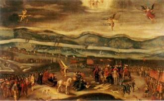 Smolensk War - Surrender of Mikhail Shein at Smolensk, painted by Christian Melich, 1640s