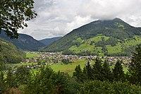 Mellau Ortsbild vom Bödelesegg.JPG