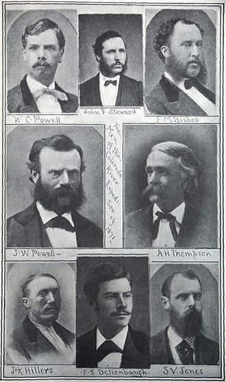 Almon Harris Thompson - Image: Members of Powell's Second Expedition