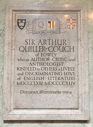 Arthur Quiller-Couch - Memorial in Truro Cathedral