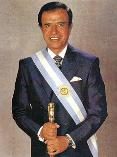 Argentine politician who was President of Argentina from 1989 to 1999