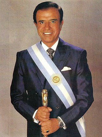 Carlos Menem - Official presidential portrait of Menem