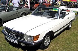 1984-85 Mercedes-Benz 380SL with European headlights and bumpers