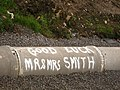 Message on a pipe - geograph.org.uk - 633629.jpg