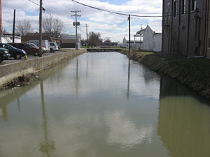 Delphos, Ohio - Remaining section of the canal in downtown Delphos