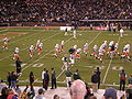 Miami takes the field before 2008 Emerald Bowl.JPG
