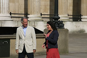 Michael Buerk - Michael Buerk with Bettany Hughes during the filming of Britain's Secret Treasures